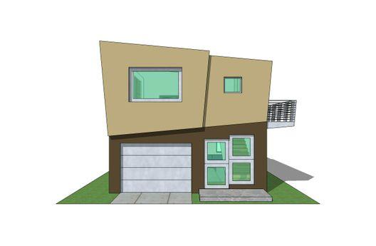 Duplex de un dormitorio y 73 metros cuadrados en 3D