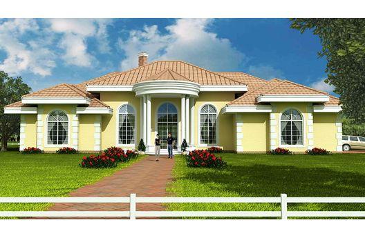 Casa mediterranea de 4 dormitorios y 290 metros cuadrados for Planos de casas americanas