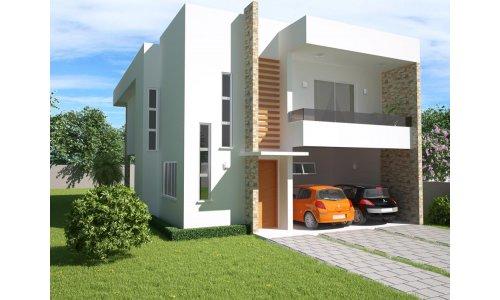 Casa moderna de ciudad de dos plantas tres dormitorios y for Casas modernas 120 metros cuadrados