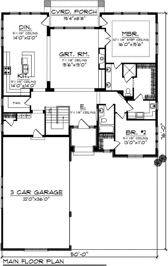 Casa grande de una planta tres dormitorios y 185 metros for Cocina 11 metros cuadrados