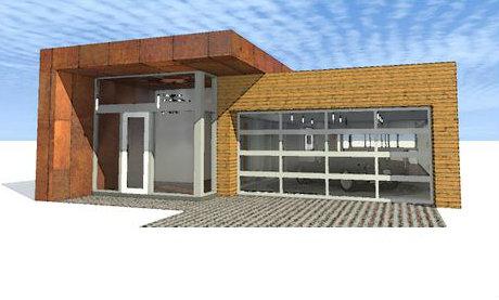 Casa moderna de una planta, cuatro dormitorios y 244 metros cuadrados