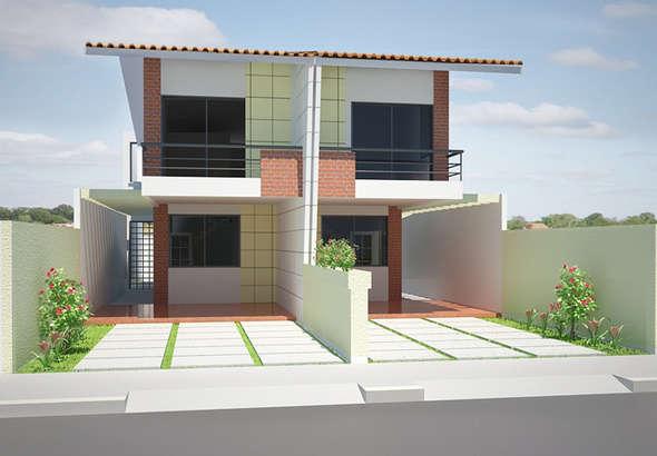 Duplex angosto de 3 dormitorios con solo 5 metros de ancho