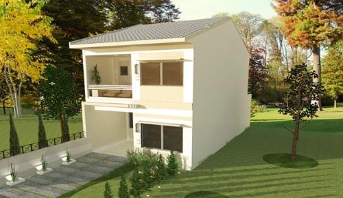 Sencilla casa de dos plantas tres dormitorios y 106 for Casa de 2 plantas y 3 habitaciones