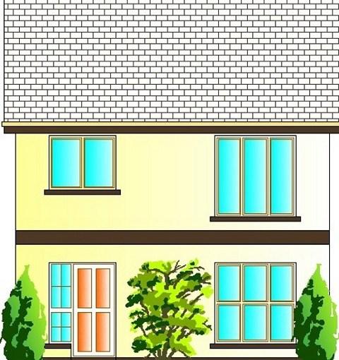 Sencilla y comoda casa de dos pisos tres dormitorios y for Diseno de casa de 120 metros cuadrados