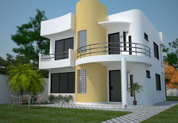 Casa moderna de dos plantas tres dormitorios y 161 metros cuadrados