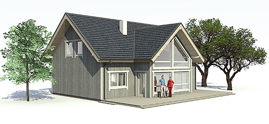 Casa moderna de 2 plantas 4 dormitorios y 170 metros for Casas modernas 120 metros cuadrados
