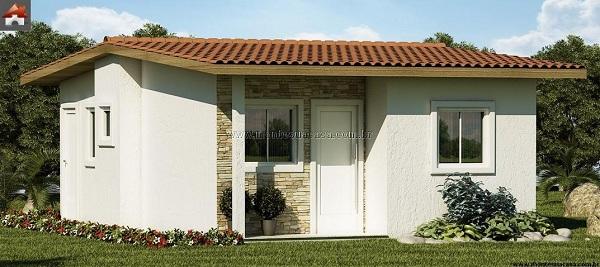 Muy peque a casa de tres dormitorio y 44 metros cuadrados for Casa minimalista 80 metros