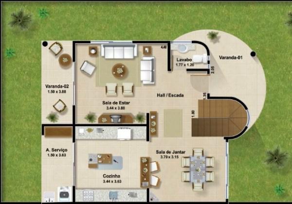 Casa moderna de dos plantas tres dormitorios y 161 metros for Planos casa dos plantas modernas