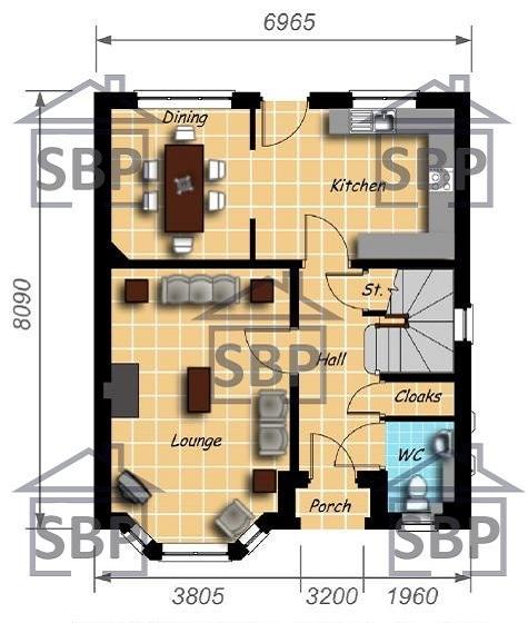 Casa De Ciudad De Tres Pisos Cuatro Dormitorios Y 124