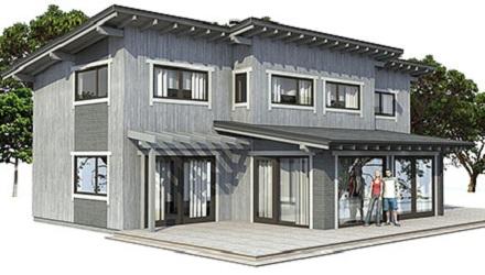 free moderna casa de dos pisos tres dormitorios y metros cuadrados with ver diseos de casas
