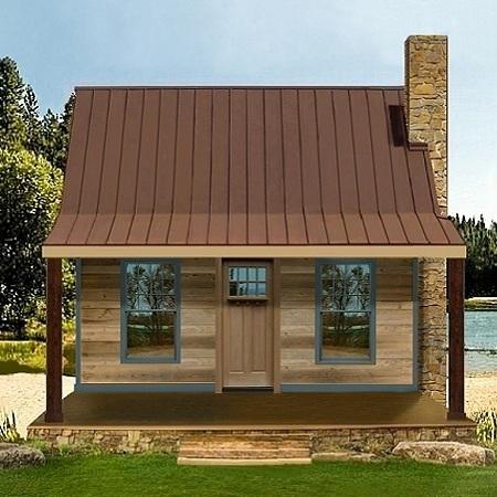 Casa de campo de dos dormitorios y 70 metros cuadrados for Planos de casas de campo gratis