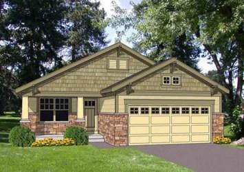craftsman garage casa cuadrados metros plan plans planta dormitorios casas bungalow americanas planos tres ft cottage sq bonita homes narrow