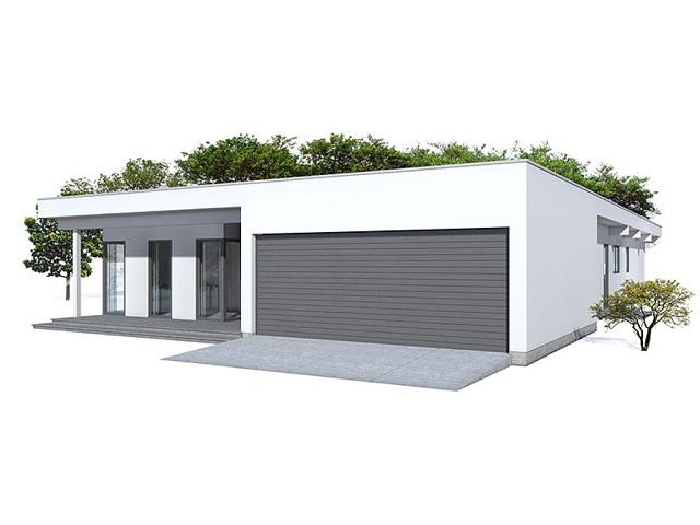 Moderna casa de una planta tres dormitorios y 215 metros for Casa moderna 80 metros cuadrados