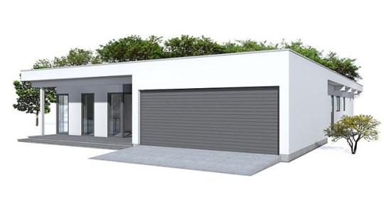 Moderna casa de una planta, tres dormitorios y 215 metros cuadrados