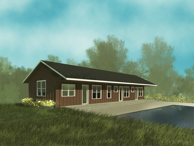 Casa de una planta dos dormitorios y 137 metros cuadrados for Casa de dos plantas construyehogar