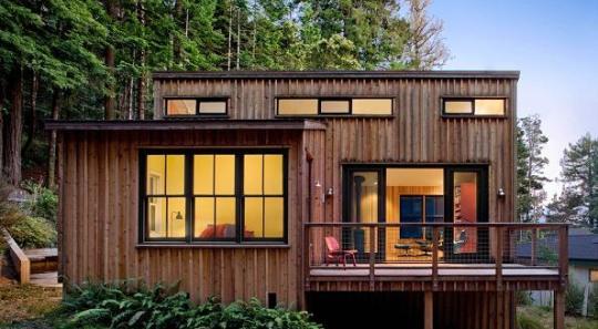 Moderna cabaña de un dormtiorio y 78 metros cuadrados