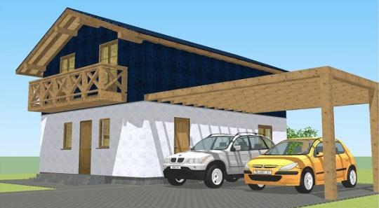 Bella Y Moderna Casa De Dos Pisos, Tres Dormitorios Y 169 Metros Cuadrados  Planos De Casas Gratis | DePlanos.Com