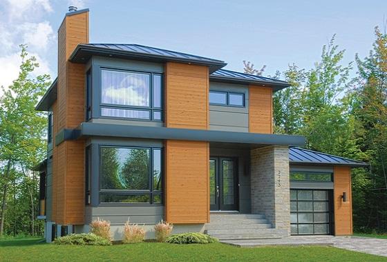 Moderna casa de dos pisos tres habitaciones y 172 metros for Terrazas economicas chile