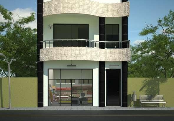 Casa con negocio de dos plantas, un dormitorio y 113 metros cuadrados