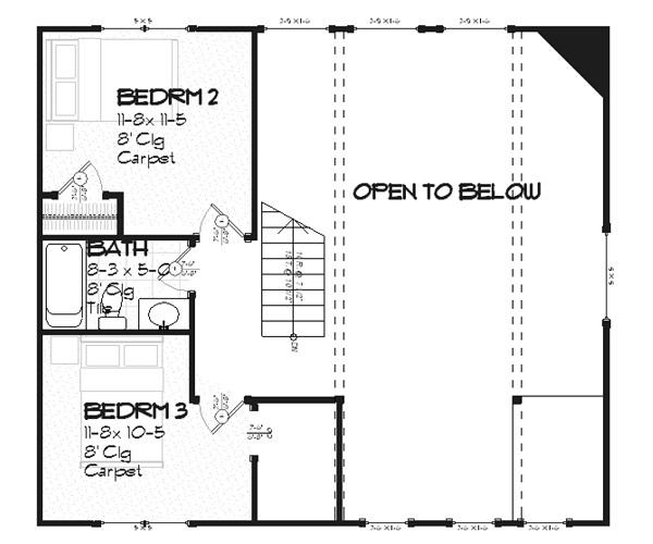Plano de casa comoda de dos plantas tres dormitorios y for Planos de casas de dos plantas gratis