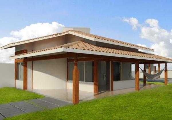 Casa de fin de semana de dos dormitorios y 97 metros - Como se construye una casa ...