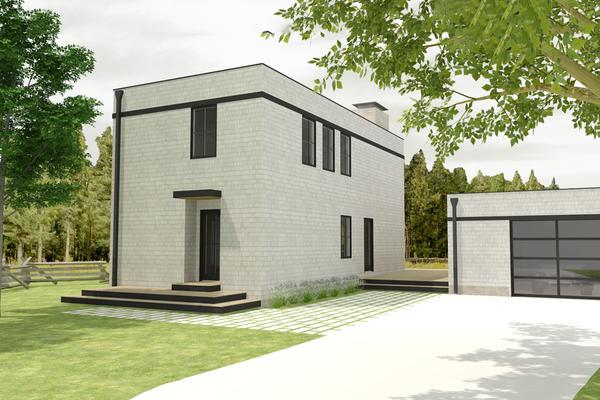 Casa moderna de dos pisos dos dormitorios y 124 metros for Pisos de 25 metros cuadrados