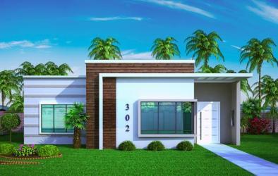 Plano de casa pequeña y moderna de tres dormitorios y 67 metros cuadrados Planos de Casas Gratis dePlanos Com