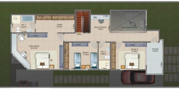 Casa de dos plantas tres dormitorios y 237 metros for Casa de 2 plantas y 3 habitaciones