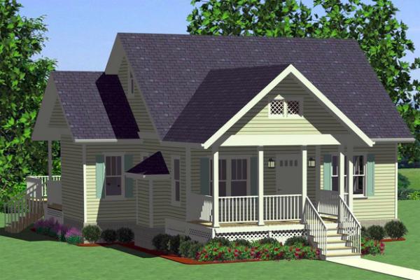 Plano de casa de un piso, dos dormitorios y 99 metros cuadrados