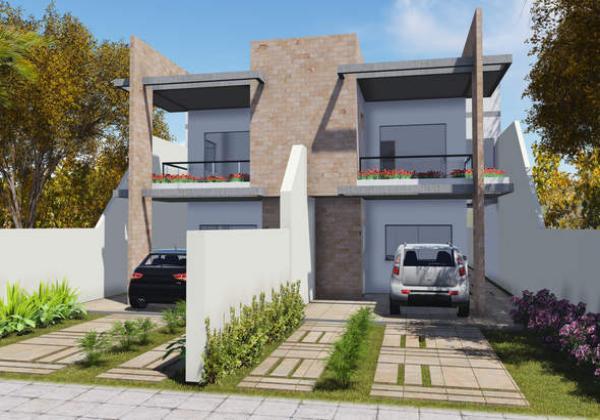 Plano de duplex angosto de tres dormitorios y 148 metros for Casa minimalista de 6 metros