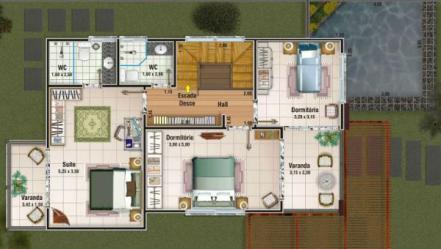 Plano de casa moderna de dos plantas tres dormitorios y 156 metros cuadrados Planos de Casas Gratis dePlanos Com