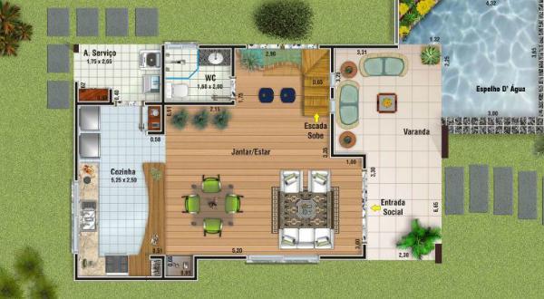 Plano de casa moderna de dos plantas tres dormitorios y 156 metros cuadrados planos de casas - Planos casas planta baja ...
