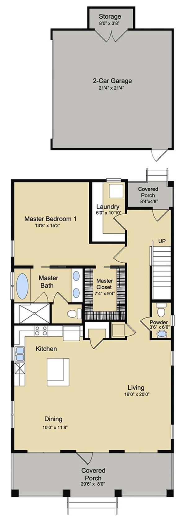 Plano planta baja casa de 268 metros cuadrados