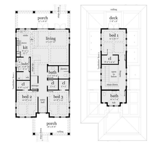 Planos casa de dos pisos, tres dormitorios y 183 metros cuadrados