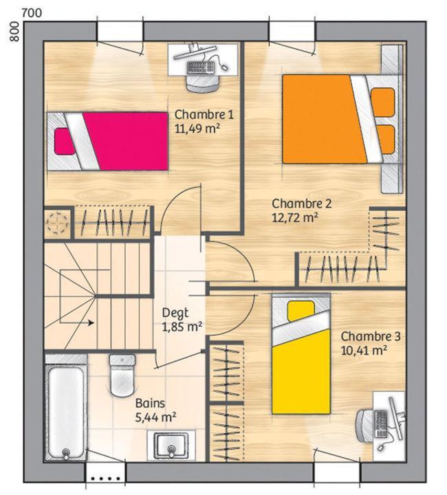 Duplex con cochera de 3 dormitorios y 110 metros cuadrados for Piso 60 metros cuadrados 3 habitaciones