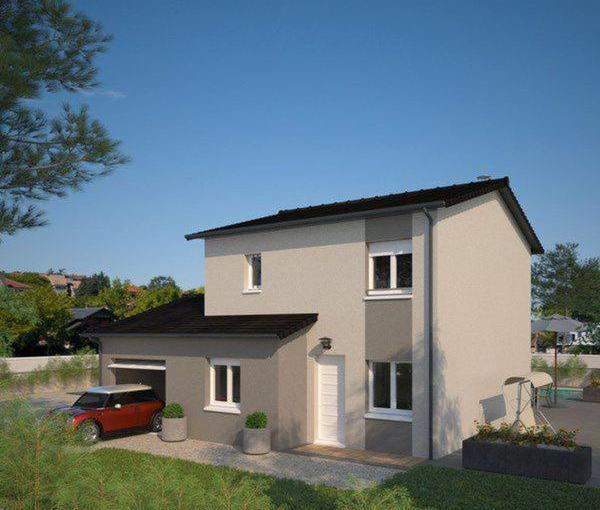 Plano de casa francesa de 4 dormitorios y 130 metros cuadrados en dos plantas