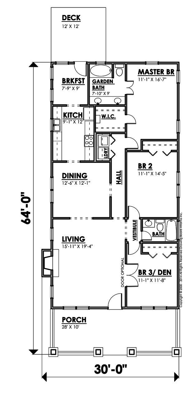 Casa de madera de tres dormitorios y 181 metros cuadrados for Plano casa 3 dormitorios 1 planta