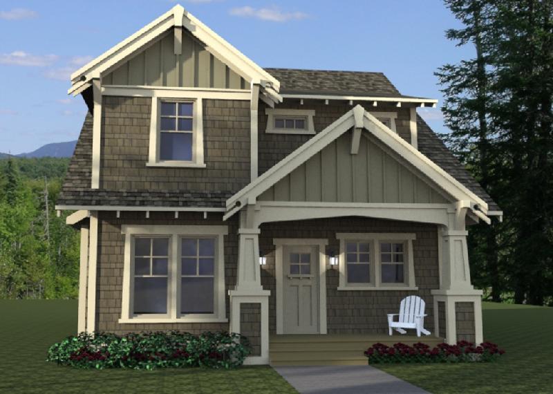 plano de casa americana de dos plantas tres dormitorios y metros cuadrados