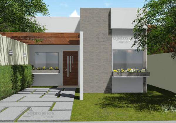 casa moderna de dos dormitorios y metros cuadrados