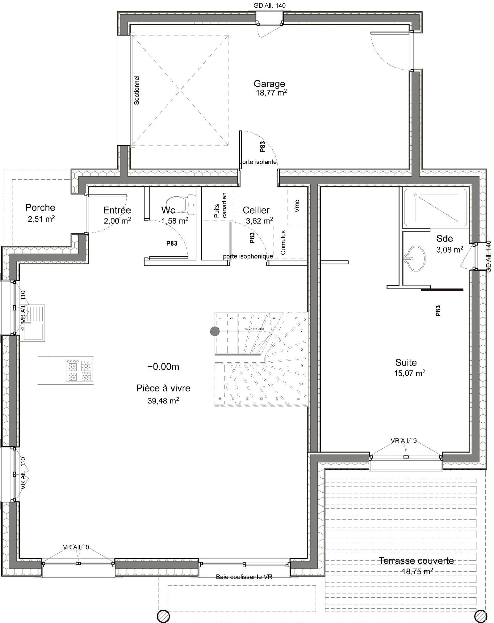 Casa de dos plantas 4 dormitorios y 109 metros cuadrados for Planos de casas de dos dormitorios