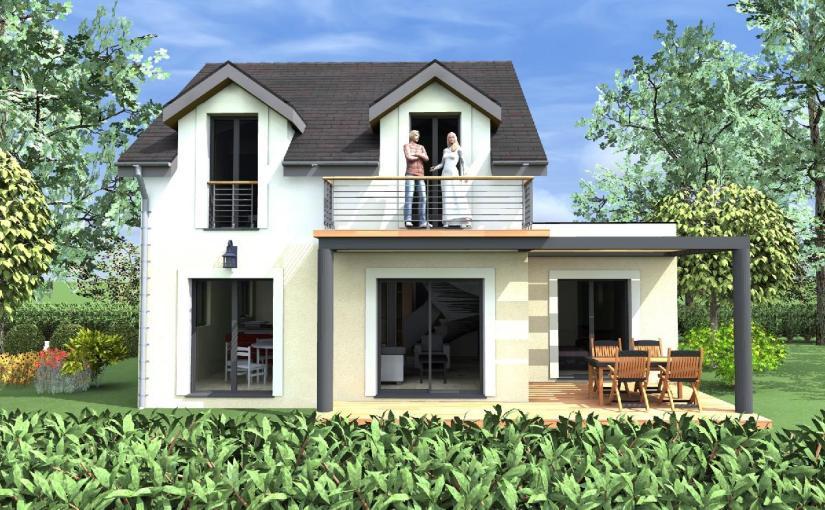 Casa de dos plantas, 4 dormitorios y 109 metros cuadrados