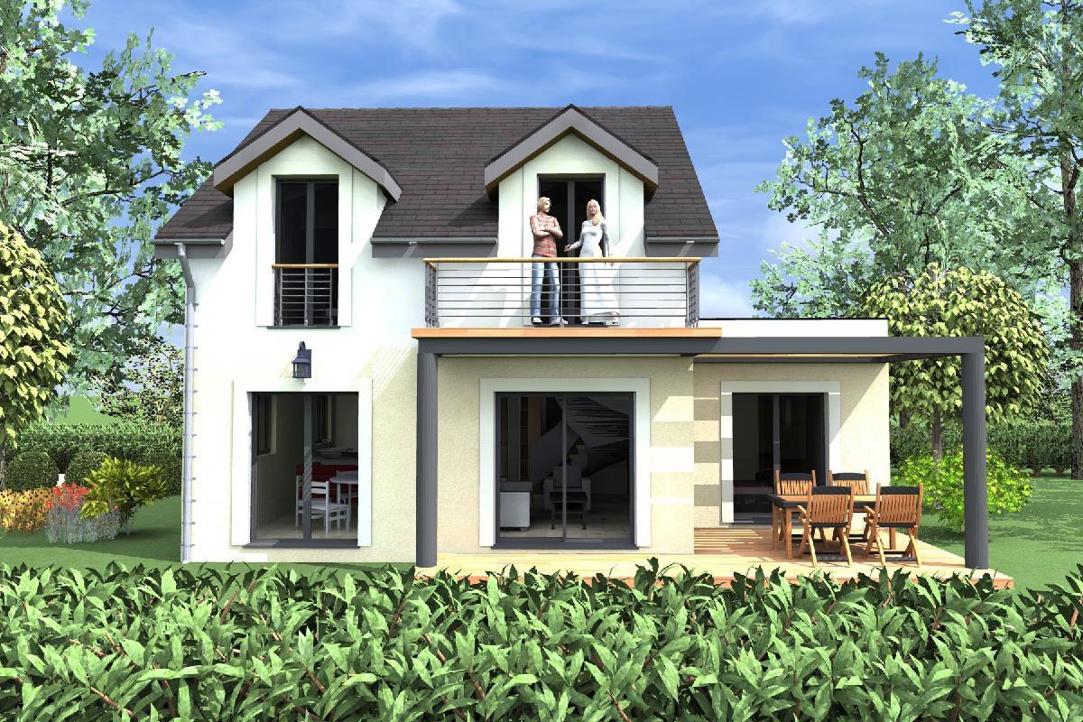 casa de dos plantas dormitorios y metros cuadrados