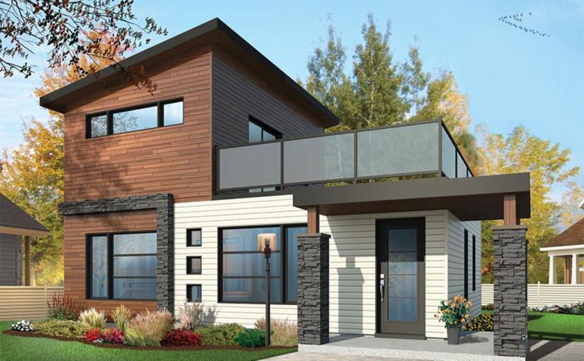 Moderna Casa De Dos Plantas Dos Dormitorios Y 86 Metros