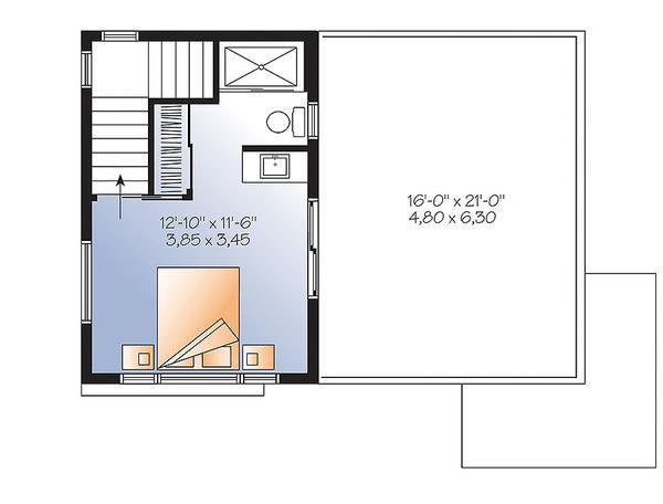 iki katlı ve 86 metrekare ile üst kattaki evi planlayın
