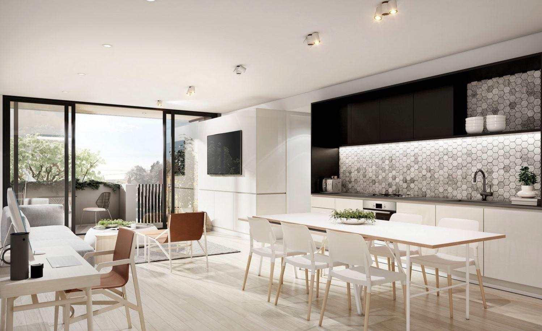Concepto abierto cocina comedor y sala