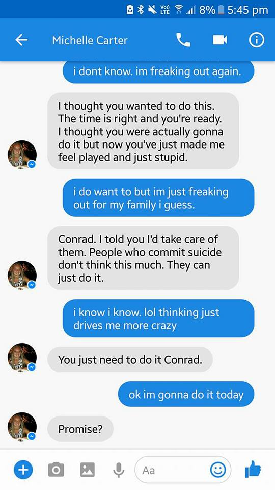 Michelle Carter Conrad Roy Text Messages