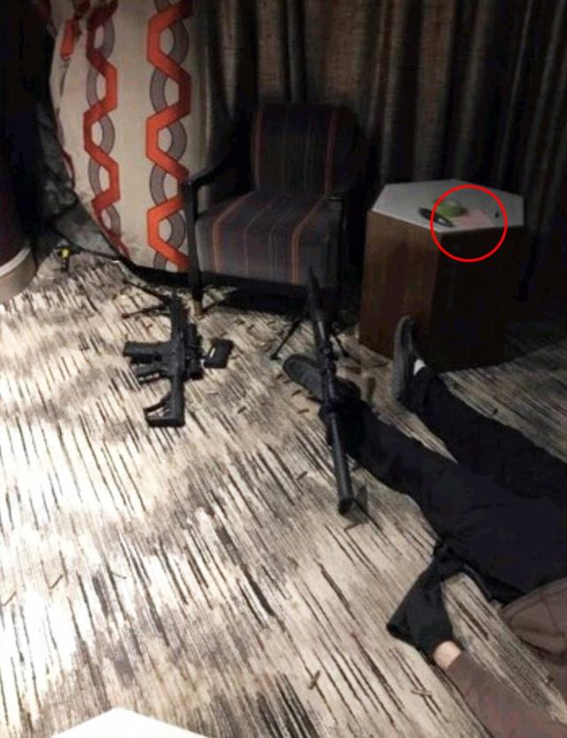 CRIME SCENE IMAGES FROM STEPHEN PADDOCK'S LAS VEGAS HOTEL ROOM