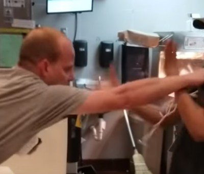 McDonald's employee fights back after being attacked by man over a straw