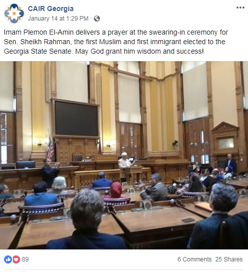 CAIR Attends Swearing-In Ceremony of First Muslim Elected To Georgia Legislature