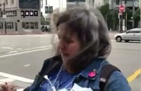 Liberal tears down posters of Laura Loomer in San Francisco